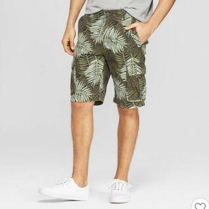 Goodfellow & Co Foliage Flex Waist Cargo Shorts 40